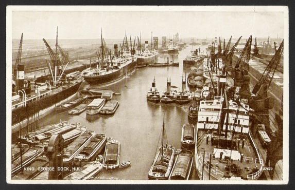 hull king george dock 1954
