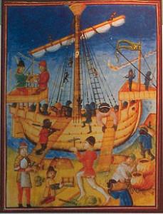 2 15thC Portuguese caravel