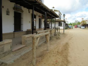 4 Hitching posts El Rocio